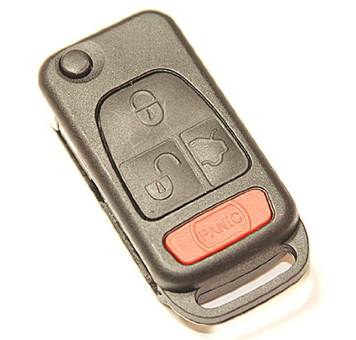 Uncut 4 button remote flip key shell case for mercedes for Mercedes benz remote key