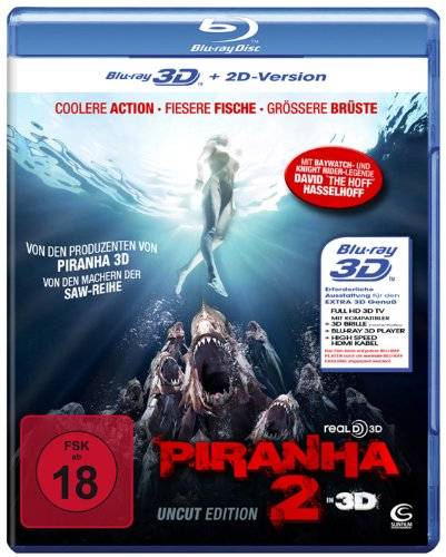 Piranha 2 in 3D (Uncut) (+ 2D-Version) [Blu-ray 3D]