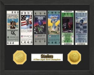 Pittsburgh Steelers Framed SB Championship Ticket Collection by Hall of Fame Memorabilia