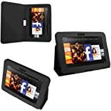 """iZKA® - Amazon Kindle FIRE HD 8.9"""" inch Leather Case Cover and Flip Stand Cover Typing Case with Magnetic Sleep Wake Sensor + Screen Protector + Capacitive Stylus Pen - Black"""