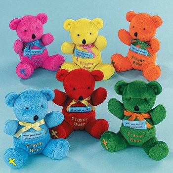 Plush Prayer Bears (1 dz)