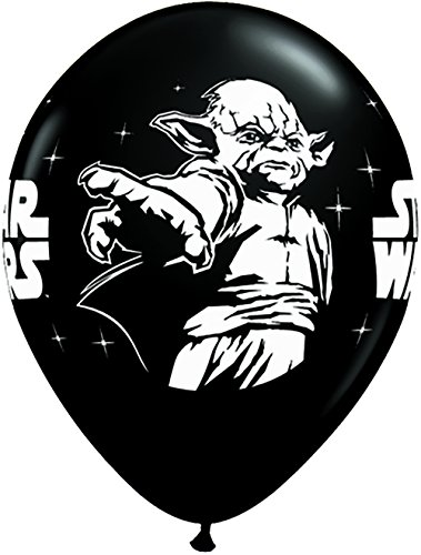 "25 Count Star Wars Latex Balloons, 11"", Onyx Black - 1"