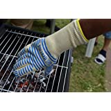 Kitchen Glove 14 Inch Long Cuff to Protect Half of Forearm - Withstand Heat up to 932°F - 1 Single Glove L/XL Size for Right or Left hand - Use As Oven Mitt, Potholder, Barbecue, and more...