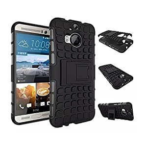 Jma Kick Stand Spider Hard Dual Rugged Hybrid Bumper Back Case Cover For HTC One M9 Plus / M9+ - Black