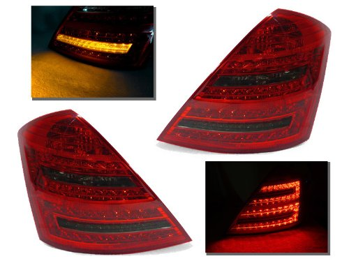Plug & Play 2007-2009 Mercedes Benz W221 S Class Smoke Led Tail Lights - S550 S660 S63 Amg
