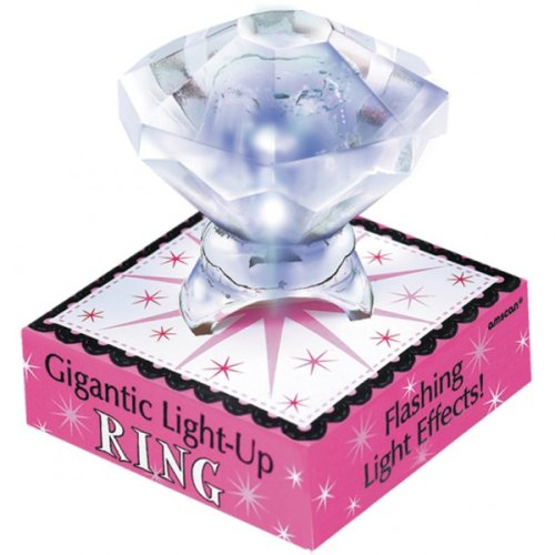 Gigantic Sparkling (Flashing) Ring Hen Night