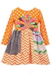 Bonnie Jean Little Girls Mix Panel Turkey Thanksgiving Dress