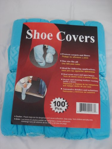 Disposable Polypropylene Shoe Covers, L, 100-Pack DSC100 Blue (Protective Shoe Covers compare prices)