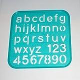 Tupperware Stencil Art Replacement Lower Case Alphabet Letters #1938