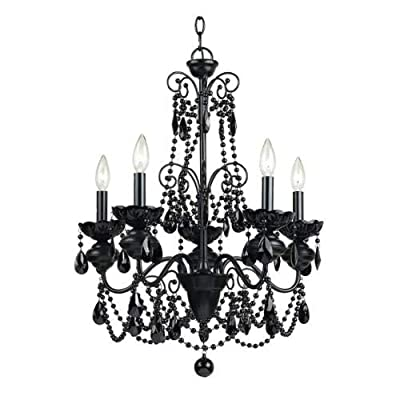 "AF Lighting 7506-5H Elements Series ""Mischief"" Five-Light Chandelier,"