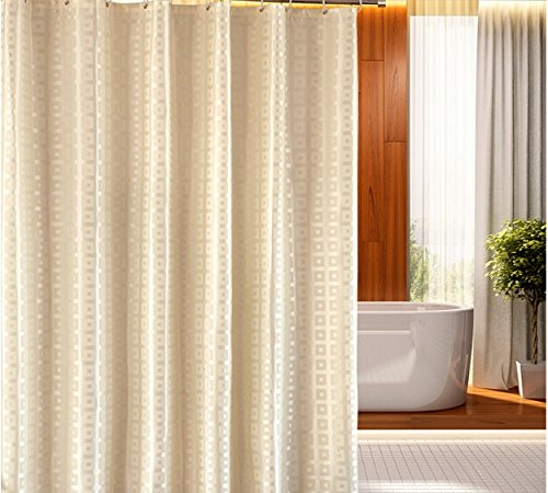 Eforgift Classic Fabric Waterproof Shower Curtain Heavy Duty Polyester Curtains For Bathroom