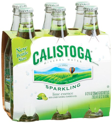 Calistoga Lime Sparkle Mineral Water 12-Ounce (Pack of 4)