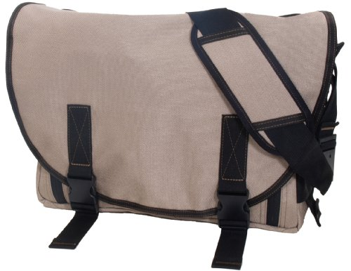 Dadgear The Classic Messenger Diaper Bag - Stone front-865239