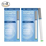 Harmless Cigarette / Quit Smoking Aid / Stop Smoking Remedy to Help Reduce Cravings / Satisfying & Effective Solution to Quit Smoking (2 Pack, Oxygen)