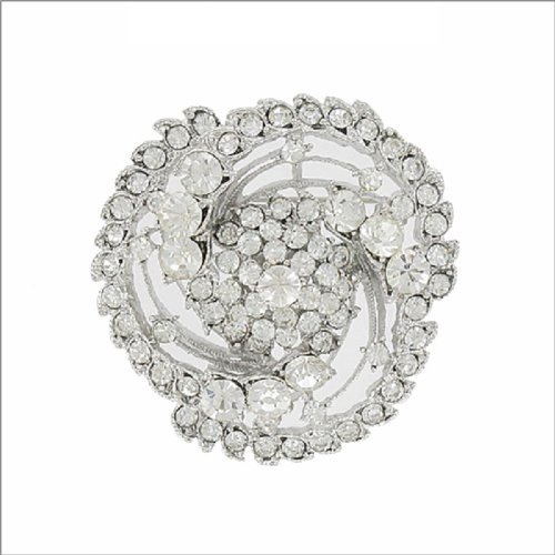 Designer Texture Knot Design W Stone Pin #041891
