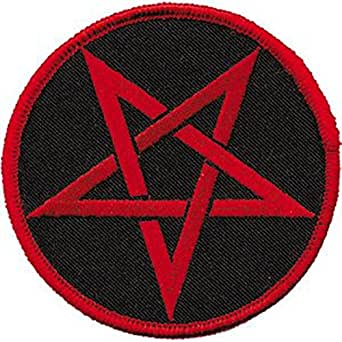 red flag with pentagram