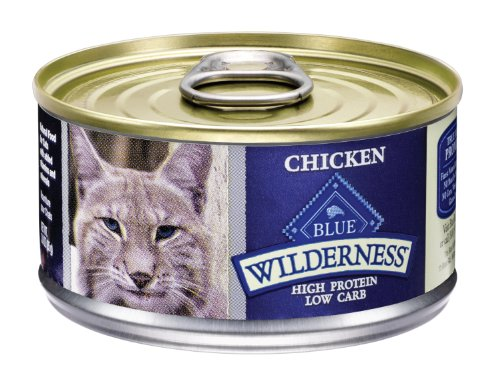 Blue Buffalo Wilderness Grain Free Canned Cat Food, Chicken Recipe (Pack of 24 3-Ounce Cans) (Blue Buffalo Canned Cat compare prices)