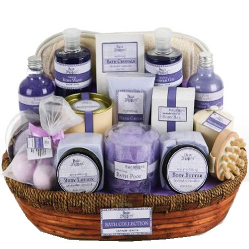 Effortless Luxury Lavender Vanilla Spa Set Gift Basket