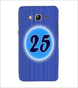 PrintDhaba Numerology Number 25 D-2583 Back Case Cover for SAMSUNG GALAXY GRAND PRIME (Multi-Coloured)