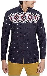 Oshano Men's Casual Shirt (OSH_037_m, Blue, m)