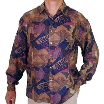 Surprise men 39 s printed 100 silk shirt 113 at amazon men for Mens silk shirts amazon