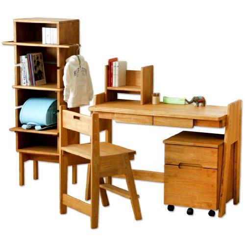 ラバーウッド学習机 学習椅子 無垢材 天然木 エコ塗装 日本製 大川家具 低ホル 5点セット 1811001200