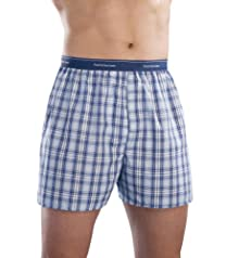 Fruit of the Loom Men's 3pk Blues Collection Exposed Waistband Boxers