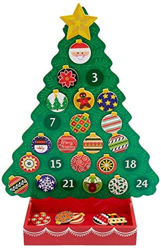 Melissa & Doug 13571 - Cuenta regresiva para la navidad calendario de adviento de madera
