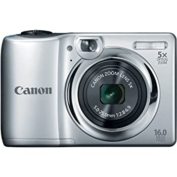 Set A Shopping Price Drop Alert For Canon PowerShot A1300 16.0 MP Digital Camera with 5x Digital Image Stabilized Zoom 28mm Wide-Angle Lens and 720p HD Video Recording (Silver)