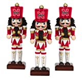NCAA Licensed 3PC Nutcrackers Playing Drums Ornament Set (Nebraska Cornhuskers) at Amazon.com