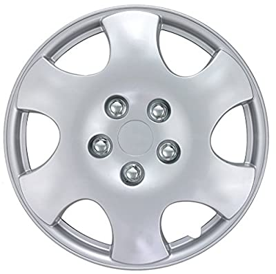 """4 PC Set 15"""" Silver Hubcaps Wheel Cover OEM Replacement Hub Cap Durable"""