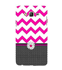 Blaky Dots Chevron 3D Hard Polycarbonate Designer Back Case Cover for Samsung Galaxy On5 :: Samsung Galaxy On 5 G550FY