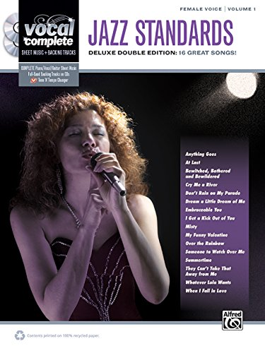 Vocal Complete -- Female Voice Jazz Standards: Piano/Vocal Sheet Music with Orchestrated Backing Tracks, Book & 2 Enhanced CDs: 1