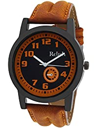Relish Casual Tan Leather Strap Men's Watch RELISH-541