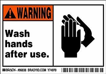 """de manos después del uso."""" (5 etiquetas de etiquetas por paquete"""
