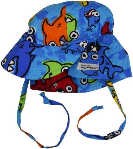 Flap Happy Unisex Baby UPF 50+ Hat with Ties