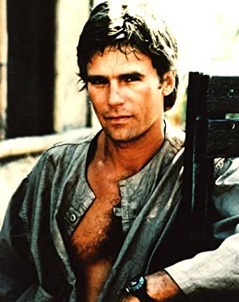 Richard Dean Anderson Hairy Chest 8x10 glossy photo #E0280 at Amazon's