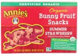 Annie's Homegrown Summer Strawberry Organic Bunny Fruit Snacks, 4-Ounce Boxes (Pack of 4)