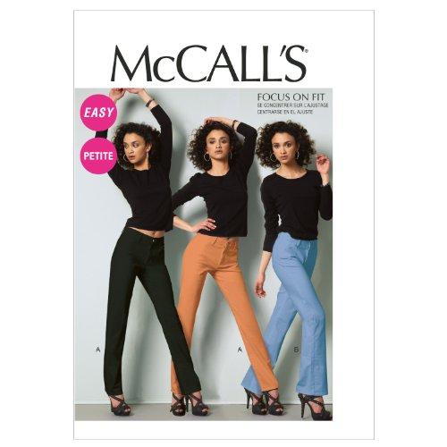 McCall's Patterns M6700 - Cartamodello per jeans da donna e ragazza, confezione da 1, taglie: 40, 42, 44, 46, 48, colore: bianco