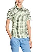 CMP Camisa Mujer 3T50936 (Verde / Antracita / Blanco)