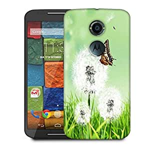 Snoogg Butterfly In White Petals Designer Protective Phone Back Case Cover For Moto X 2nd Generation