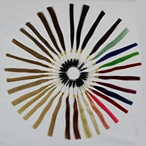 A Color Ring with 32 Sample Human Hair Extensions 83g Each Set NEW Hot Sale