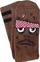 Toy Machine Poo Poo Head Crew Socks [Brown] 1 Pair