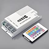 IR Music Controller 60 Watt 3 Ports With Remote for Color Changing LEDs,3322RGB