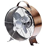 Deco Breeze DBF0626 Retro Metal Fan, Copper, 9-Inch