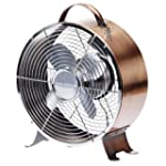 Deco Breeze DBF0626 Retro Metal Fan,...