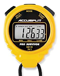 ACCUSPLIT Pro Survivor - A601X Stopwatch, Clock, Extra Large Display (Yellow)