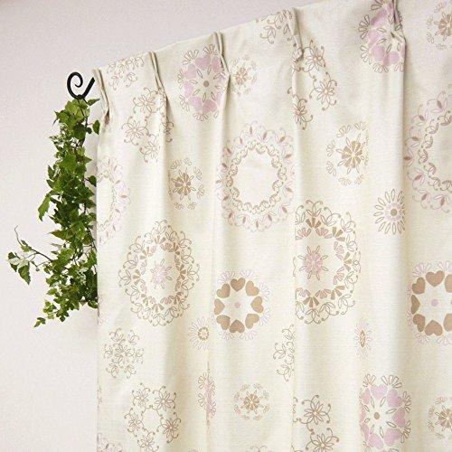 お得な厚地カーテンとレースカーテンのセット 防音・遮光・断熱カーテン マリムSET ピンク 幅100x135cm 4枚組