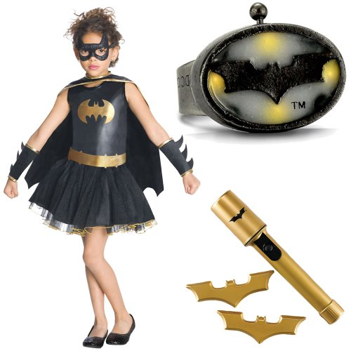 Batgirl Tutu Child Deluxe Costume Small (4-6x) Includes Ring and Safety Light