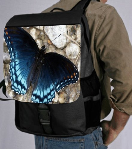 Blue Shaded Butterfly Back Pack - School Bag Bag - Laptop Bag -Book Bag - Unisex - Ideal Gift for all occassions!